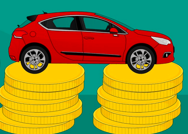 A car with a high car payment.
