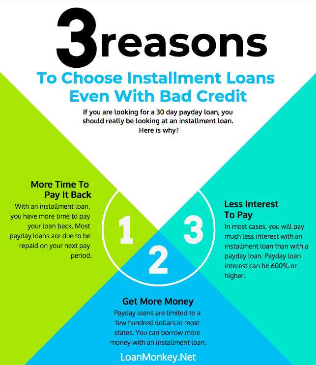 Infographic on 30 day payday loans