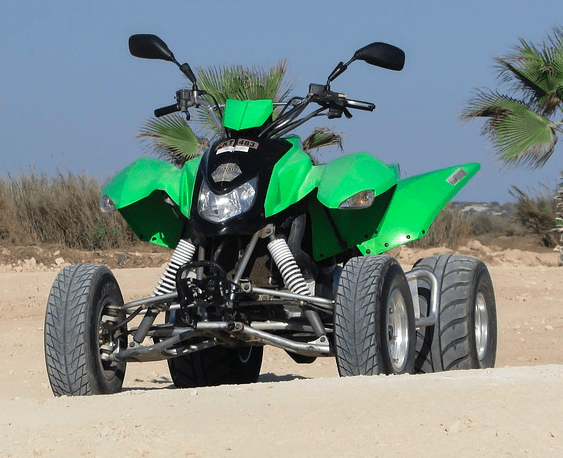 Four wheeler on the beach