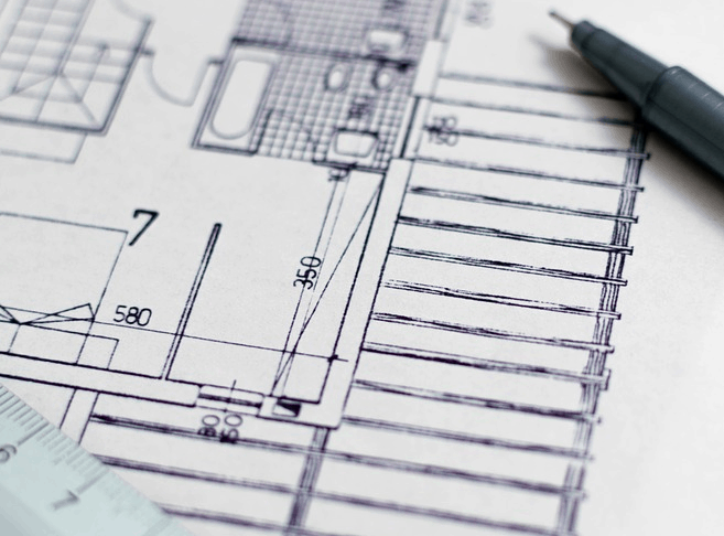 Blueprints from a home remodel.