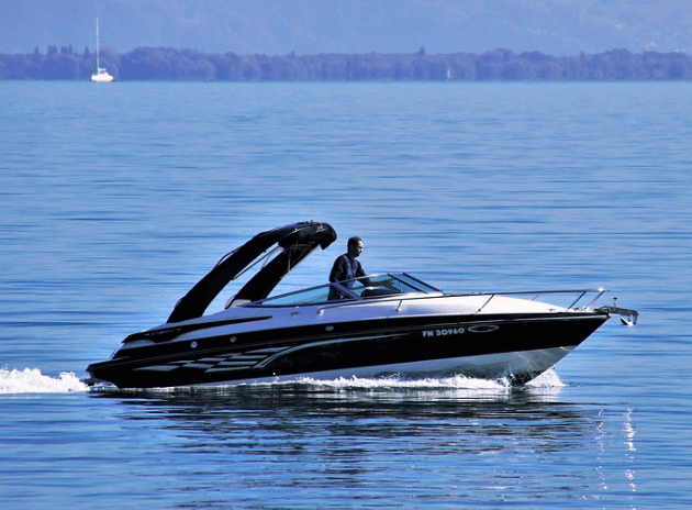 Boat owner enjoying the lake.