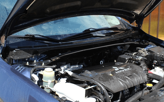 An engine from a used car.