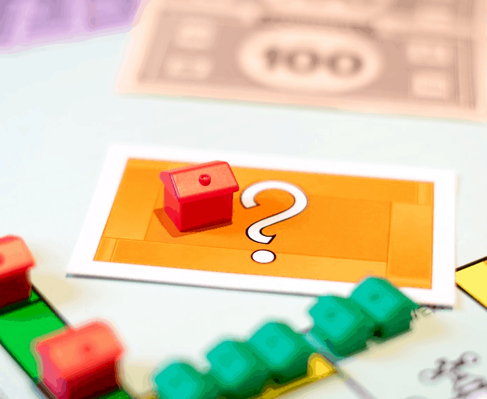 Expensive housing on a board game.