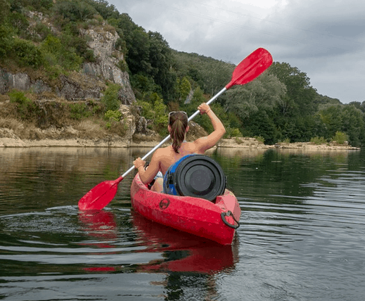 A kayak that was saved for.