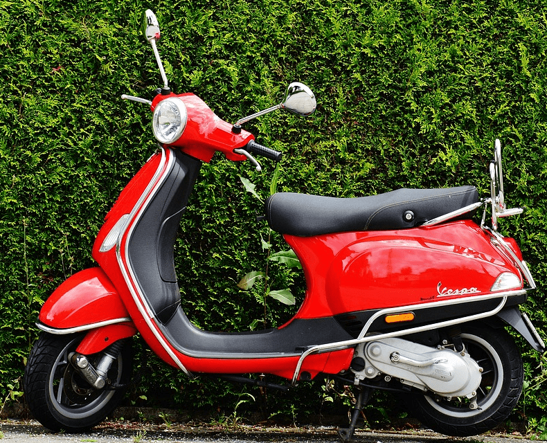 A moped financed with a loan.