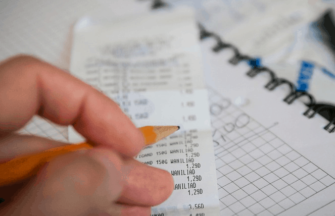 Paying bills check to check.