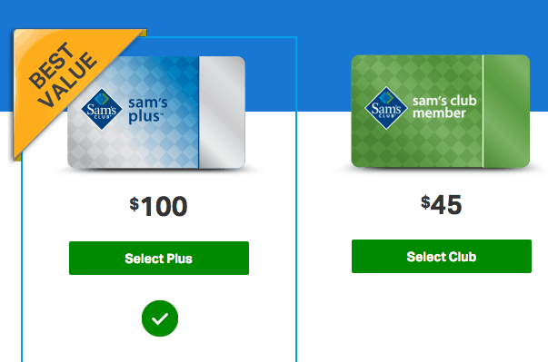sam's club membership levels