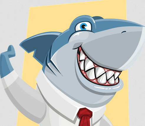A smiling loan shark if you need one.