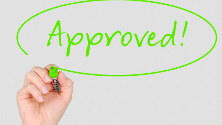 A written approval for a loan