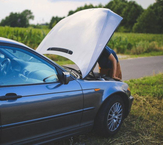 A car that has broken down