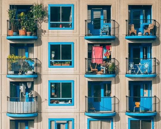 An apartment complex.