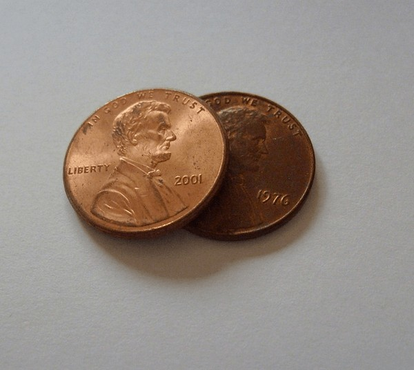 Pennies for a frugal person.