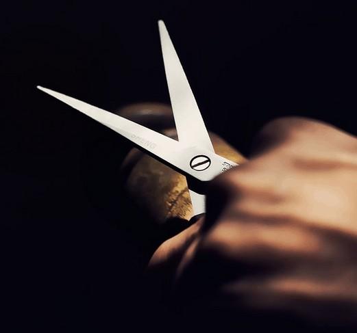 Scissors used to cut expenses.