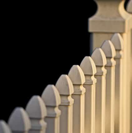 Fence on an FHA home.
