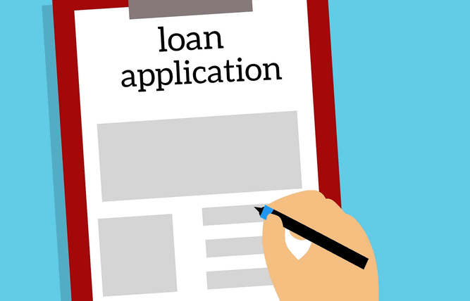 A loan application.