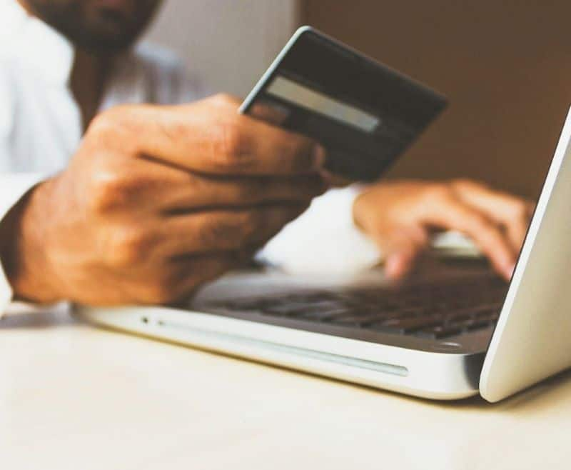 A person requesting a credit card increase online.