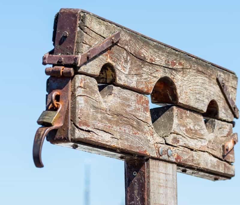 Shacles representing the burden of debt.
