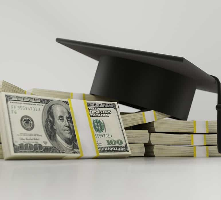 A student loan under forbearance.