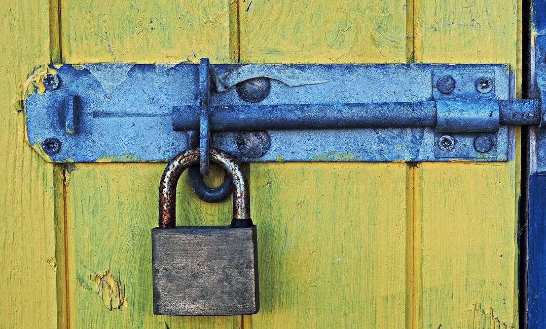 A secured gate.