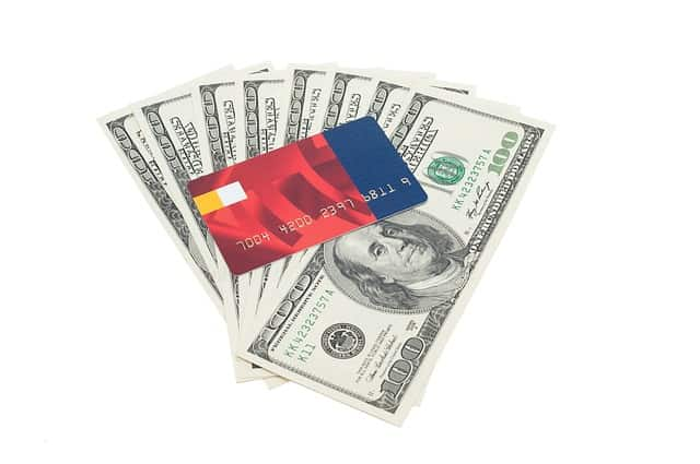 Money that is cash back from a credit card.