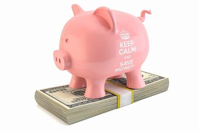 A piggy bank which is a way to save money.