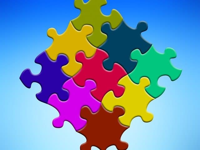 A puzzle that has been put together or consolidated.