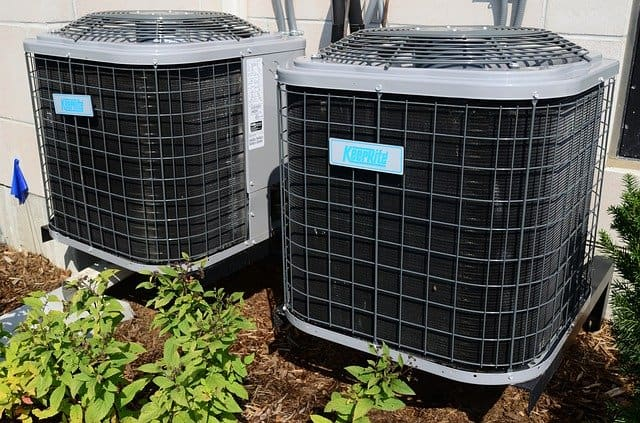 Parts of an air conditioning system.