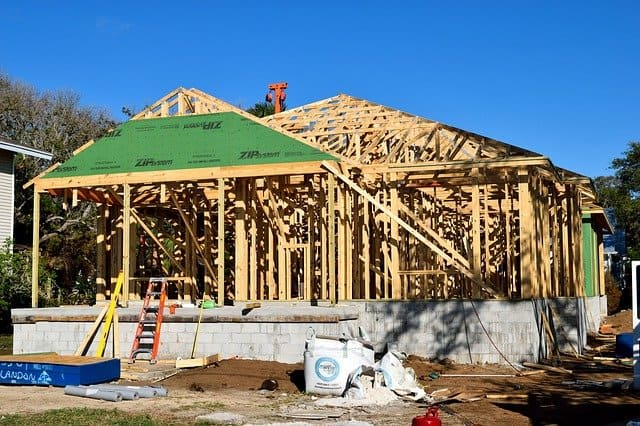 A new construction home with a loan.